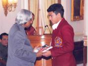 Sanmesh with Dr. Abdul Kalam, President of India