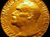 1933 Nobel Peace Prize awarded to Norman Angell on exhibit to the public at the Imperial War Museum, London, England