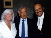English: Dr. Mashkevitch and Nobel Peace Prize Winner Elie Wiesel