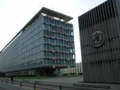 English: World Health Organisation headquarters, Geneva, north and west sides. Français : faces nord et ouest du siège de l'Organisation Mondiale de la Santé, à Genève (Suisse).