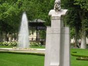 monument erected for Ivan Mažuranić in the Zrinjevac park in Zagreb