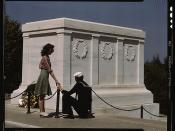 Sailor and girl at the Tomb of the Unknown Soldier, Washington, D.C.  (LOC)