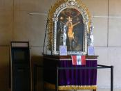 Roman Catholic Cathedral of Our Lady of the Angels, Los Angeles, California Altar of the Lord of Miracles (