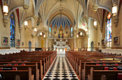 English: Interior of St. Andrew's Catholic Church in Roanoke, Virginia, USA.