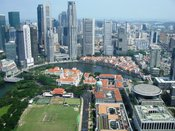 English: Overview of Singapore's financial district