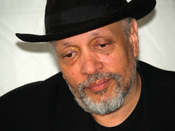 Walter Mosley at the 2007 Brooklyn Book Festival. The photographer dedicates this photograph to Debbie Ramos, sister of Jeffpw.