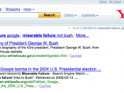Screenshot of Yahoo! search results for