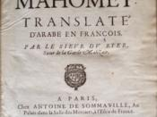 English: L'Alcoran_de_Mahomet_by André du Ryer in 1647