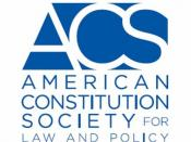 English: Square logo of the American Constitution Society for Law and Policy.