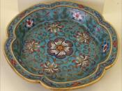 Qing dynasty cloisonne dish.