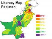 Literacy Map Pakistan