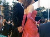 Tom Hanks and wife Rita Wilson on the red carpet at the 1989 Academy Awards, March 29, 1989