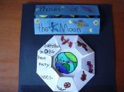 English: Illustration of a lapbook on the subject of 'Space' used in a homeschooling course.