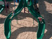 English: Aerial view of a two slide play structure designed by Landscape Structures Inc.