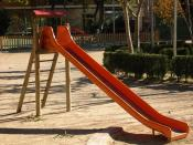 Slide in the Parque de Alcacer in Valencia, Spain.