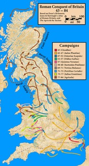 Campaigns in the Roman Conquest of Britain, 43 — 84