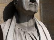 Bust of British architect John Nash (1752-1835) at one of his creations, the All Souls Church in London.