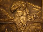 The bronze sculpture of Hang Tuah in Muzium Negara, Kuala Lumpur, Malaysia.