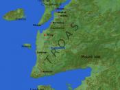 Deutsch: Landkarte der Troas Nederlands: ligging en omgeving van Troje