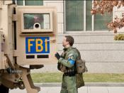English: FBI agents from the Washington Field Office with one of the tactical vehicles they had standing by for the 2009 Presidential Inauguration