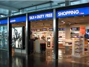 English: A duty-free shop in the