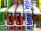 English: It is a picture of a fridge full of energy drinks. The image was auto-leveled, cropped and resized from its original dimensions of 1600x1200, and saved as JPG with The Gimp.