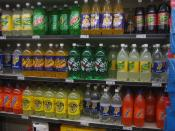 Soft drinks on shelves in a Woolworths supermarket (Australia). Taken by myself.