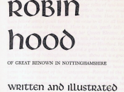 The title page of Howard Pyle's The Merry Adventures of Robin Hood.