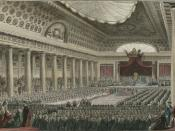 English: The meeting of the Estates General May 5, 1789 in the Grands Salles des Menus-Plaisirs in Versailles.