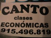 canto clases económicas