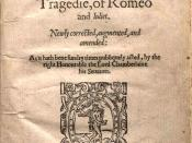 English: Title page of the second quarto edition (Q2) of William Shakespeare's play Romeo and Juliet printed by Thomas Creede in 1599.
