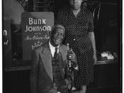 [Portrait of Bunk Johnson and Maude Johnson, Stuyvesant Casino, New York, N.Y., ca. June 1946] (LOC)