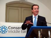 English: Rt Hon David Cameron MP speaking at the Conservative Middle East Council Annual Gala Dinner