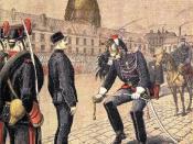 English: Alfred Dreyfus stripped of rank Français : Le traître : Dégradation d'Alfred Dreyfus עברית: אלפרד דרייפוס מורד מדרגתו