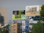 An ad from the Ecologist Green Party in Mexico promoting the reintroduction of the death penalty. Text in Spanish: