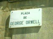 The square in Barcelona renamed in Orwell's honour