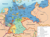 Karte des Deutschen Reiches, »Weimarer Republik/Drittes Reich« 1919–1937 / Map of German Reich, »Republic of Weimar/Third Reich« 1919–1937