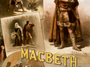 English: Poster of Thos. W. Keene in William Shakespeare's MacBeth, c. 1884.
