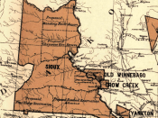 Great Sioux Reservation. 1888 Map showing the location of the Indian reservations within the limits of the United States and territories, compiled from official and other authentic sources, under the direction of the Hon. Jno. H. Oberly, Commissioner of I