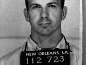 Mugshot taken of Lee Harvey Oswald, taken following his arrest.