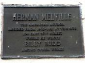 Photograph of the plaque outside 104 East 26th street, New York—former residence of Herman Melville