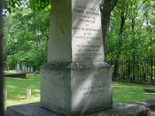 This photograph is of the grave site of Thomas Jefferson, which is located at Monticello in Charlottesville, Virginia.