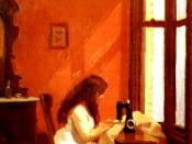 English: Edward Hopper's Girl at Sewing Machine