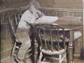 English: Jack London studying at Heinold's First and Last Chance in Oakland, California 1886