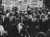 Civil Rights March on Washington, leaders marching from the Washington Monument to the Lincoln Memorial