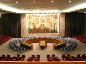 English: The United Nations Security Council Chamber in New York, also known as the Norwegian Room Français: La Salle de réunion du Conseil de sécurité des Nations Unies à New York Nederlands: De Zaal van de Veiligheidsraad van de Verenigde Naties in New