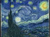 Vincent van Gogh, The Starry Night. Oil on canvas, 73×92 cm, 28¾×36¼ in.