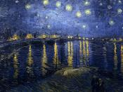 Vincent van Gogh: Starry Night Over the Rhone Arles, September 1888