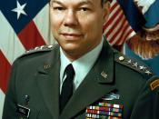 U.S. Army General Colin Powell, Chairman of the Joint Chiefs of Staff