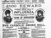 English: Newspaper Ad for the Carbolic Smoke Ball Company